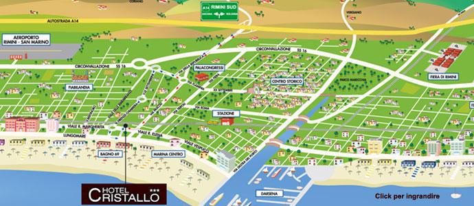 Karte Rimini  Sterne Hotel